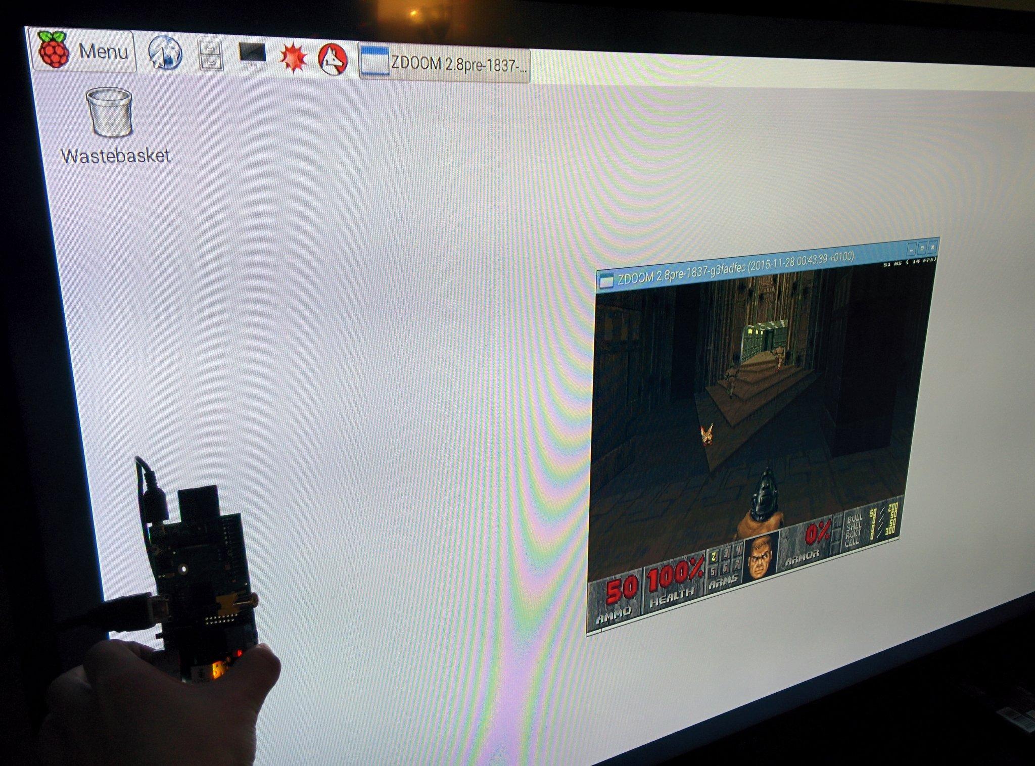 ZDoom on a Wii U GamePad with a Raspberry Pi / fuzzy notepad