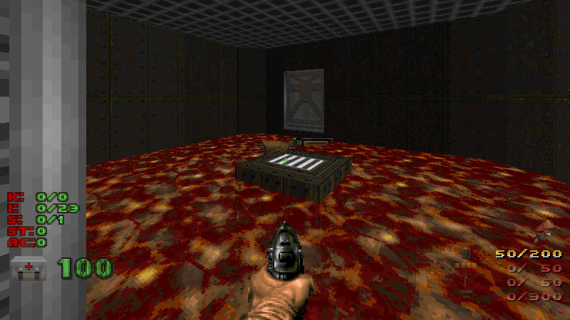 You should make a Doom level, part 3: cheating / fuzzy notepad