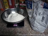 I love our comically massive bag of flour.