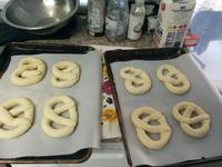 Eight fully-formed pretzels!