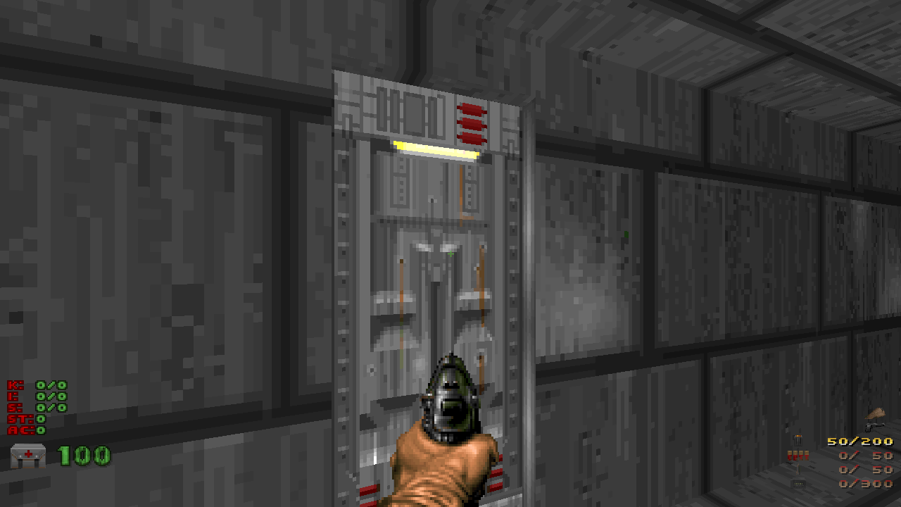 A 32×64 door in Doom